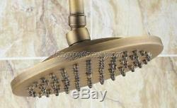 Retro Antique Brass Bathroom Rain Shower Faucet Set Mixer tap yan118