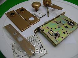 Sargent 7700 Brushed Brass Mortise Door Knob Lock Set Front Door