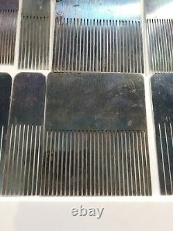 Scarce Mid-19th Henry Taylor Wood Graining Combs Antique England Brass Set