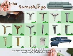 Set Metal Furniture Legs Metal Couch Sofa Legs 5 Antique Brass 4PC DIY by Alpha