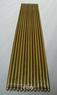 Set Of 13 Vintage Brass Stair Rods + 26 Brackets
