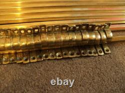 Set Of 13 Vintage Solid Stair Rods And 26 Brackets