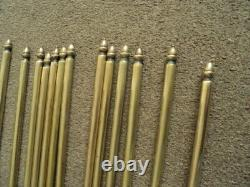 Set Of 13 Vintage Solid Stair Rods And Brackets