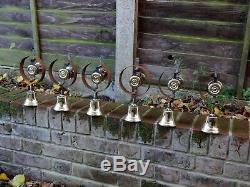 Set Of 6 Refurbished Servants Maid Butler Bell Brass Bells Door Knobs Handles