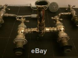 Set Of Vintage Brass Heritage Bathrooms 1924 Taps Antique Rare