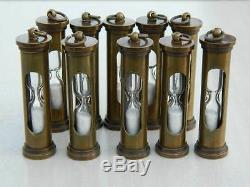Set of 100 Beautiful 3 nautical sand timer hourglass antique finish pendants