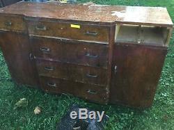 Set of 11 Vintage Brass & Bakelite Art Deco Dresser Handles Pulls Marshal Fields