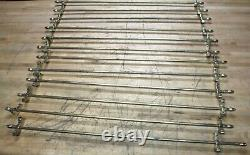 Set of 12 Brass Stair way Rods Stair well Staircase rod Vintage finials 32 long