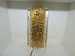 Set of 4 Orrefors wall lamps glass and brass Carl Fagerlund 1970 Midcentury