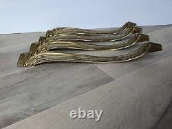 Set of 4 french antique curved brass table legs