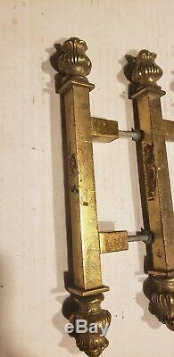 Set of 6 Vintage Solid HEAVY Brass Large Door Knob Handle Push/Pull