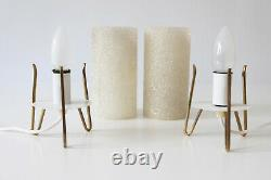 Set of Two MID CENTURY MODERN Table Lamps NIGHT TABLE LIGHTS, 1950s, Germany
