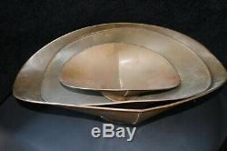 Set of Vintage Antique Brass Scale Trays, 23, 18, & 13 From Country Store