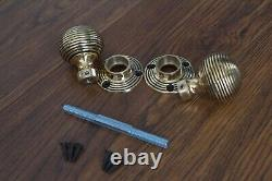 Solid Brass Door Knobs Set Of 8 Pairs Beehive Style
