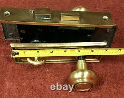 Solid Brass Mortise Lock Set withModern Key & Turn Button, Knobs, and Plates