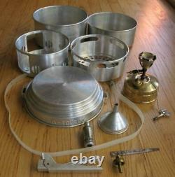 Svea 123 Camp Hike Backpack Gas Stove with Complete Sigg Tourist Cook Set Tested