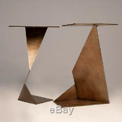 The Cartesian Leg Set of 2 Brass Plated Steel Table Legs Desk / Dining Table