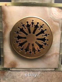 Three Piece Onyx And Ormolu Garniture Set, Clock And Pair Of Candelabras