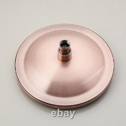 US Antique Copper Shower Faucet Set 8 Rain Head 3-Way Mixer Valve Hand Sprayer