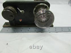 VTG Antique Cast Iron Brass Glass Door Lock Set Knobs Corbin Mortise