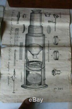 Very Fine Antique Large Cased English Drum Microscope Set