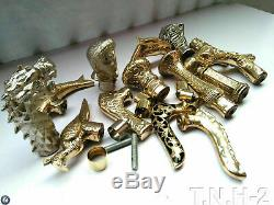 Victorian Brass Knob Antique Handle Style Vintage For Walking Stick Cane SET 14