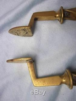 Victorian Three Piece Set of Brass Fire' Irons' c. 1880