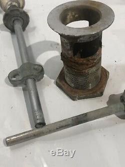 Vintage American Standard Hot Cold Knobs Faucets Porcelain Stopper Complete Set