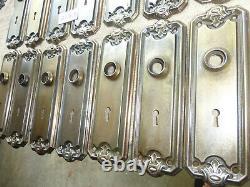 Vintage Antique 4 Pc Set Art Nouveau Door Hardware 10119 D