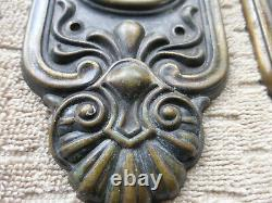 Vintage Antique Brass Entry Door Set 11620 A