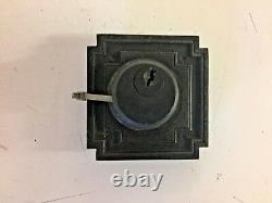 Vintage Art Deco Brass Penn Entry Door Set Pull Handle Plate Lock Corbin 2 Pc