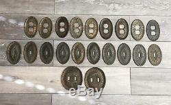 Vintage Art Deco Switchplates Switch Plates Brass Outlet Cover Antique Set