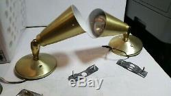 Vintage Mid Century Modern Cone Shade Wall Sconces Light Retro Lamp Fixture Set