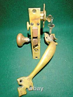 Welch E-z Mortise Double Entry Lock Complete Door Set Restored (12688)