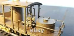Working Antique Brass HO CLIMAX Logging Display Set with Footlights & PWM Power